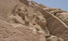 Huge Face. Abu Simbel temples, Egypt,Africa stock images