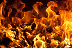 Huge fire burning Royalty Free Stock Photography