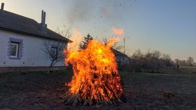 Huge fire stock photography