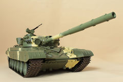 Huge firepower cannon Soviet tank T-72 Stock Images