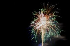 Huge fireworks Stock Photo
