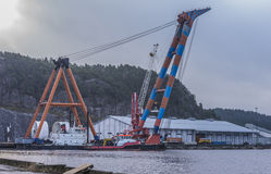Huge floating crane Royalty Free Stock Photos