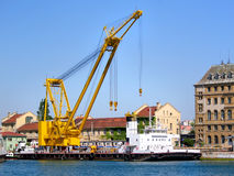 Huge floating crane Royalty Free Stock Images