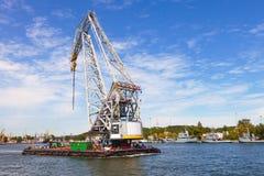 Huge floating crane Stock Photo