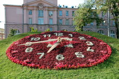 Huge floral clock Royalty Free Stock Photography