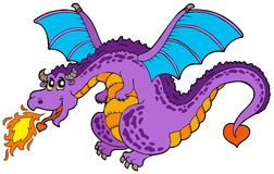 Huge flying dragon Royalty Free Stock Photo