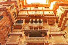 Huge fort  complex and havila in india. Huge fort and complex havila in jaisalmer india Stock Photos