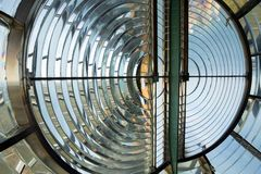 Huge Fresnel lens in a lighthouse Stock Image