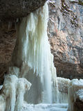 Huge frozen waterfall Royalty Free Stock Photography