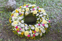 Huge Funeral Wreath Stock Images