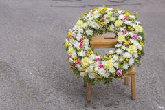 Huge funeral wreath Royalty Free Stock Image