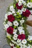 Huge funeral wreath Stock Photos