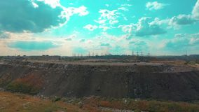 The huge garbage dump, the ecological disaster of our planet. The huge garbage dump, the ecological disaster of our planet stock video footage