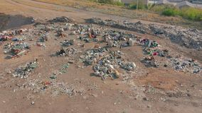 The huge garbage dump, the ecological disaster of our planet. The huge garbage dump, the ecological disaster of our planet stock video