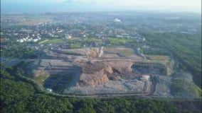 A huge garbage dump.