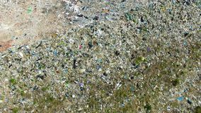 The huge garbage dump. On the outskirts of the forest, the ecological disaster of our planet stock video footage