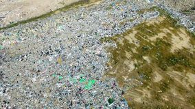 The huge garbage dump. On the outskirts of the forest, the ecological disaster of our planet stock video