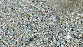 The huge garbage dump. On the outskirts of the forest, the ecological disaster of our planet stock footage