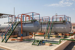 Huge gas storage tanks Stock Photography