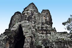 The huge gate of Angkor Thom Stock Image