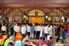 Huge gathering of lord Krishna devotees in sri govind devji temple Jaipur Rajasthan India Royalty Free Stock Images