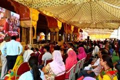 Huge gathering of lord Krishna devotees in sri govind devji temple Jaipur Rajasthan India Stock Photography