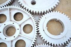 Huge gear set Stock Images