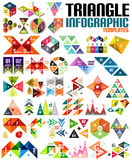 Huge geometric shape infographic template set Stock Images