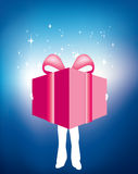 Huge gift Stock Photography