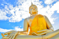 Huge golden Buddha Royalty Free Stock Photo