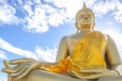 Huge golden Buddha.  Stock Photos