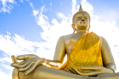 Huge golden Buddha.  Royalty Free Stock Images