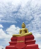Huge golden buddha statue in Thai temple, Thailand Royalty Free Stock Images