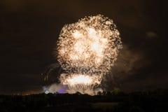 Huge Golden Fireworks Royalty Free Stock Image