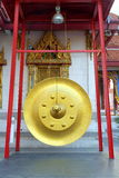 Huge Golden Gong. Royalty Free Stock Image