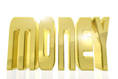 Huge golden word MONEY on white background Stock Photography