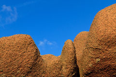 Huge granite boulder Stock Photography