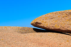 Huge granite boulder Royalty Free Stock Photo
