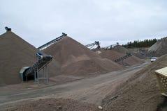 Free Huge Gravel Piles At Brekke Quarries, Piles 1 Royalty Free Stock Images - 27825369