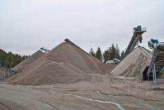 Free Huge Gravel Piles At Brekke Quarries, Piles 4 Royalty Free Stock Image - 27825376