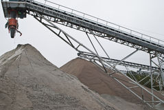 Huge gravel piles at brekke quarries, piles 3 Stock Images