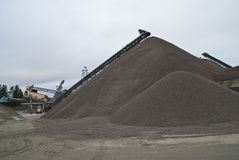 Huge gravel piles at brekke quarries, piles 5 Stock Photos