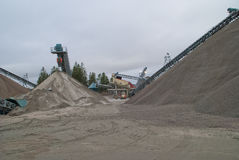 Huge gravel piles at brekke quarries, piles 6 Stock Images