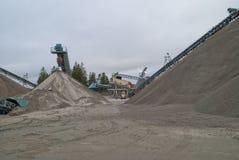 Huge gravel piles at brekke quarries, piles 6 Stock Images
