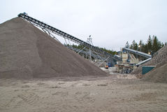Huge gravel piles at brekke quarries, piles 7 Stock Image