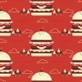Huge hamburger flat design Stock Photos
