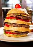 Huge hamburger Royalty Free Stock Image
