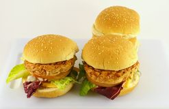 Huge hamburgers Stock Photography