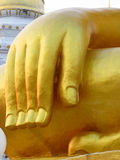 Huge hand of Buddha golden statue Royalty Free Stock Photography