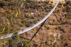 Huge hanging bridge royalty free stock photography
